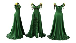 3D Marilyn Green Dress