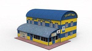 3D Roadside motel model