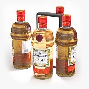 Alcohol Bottle Tanqueray Flor de Sevilla Gin 700ml 2021 3D