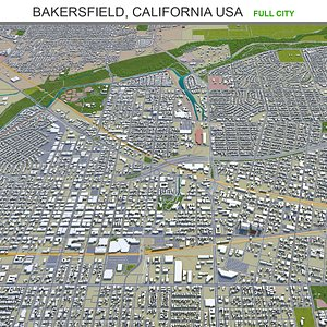 Bakersfield California USA 3D