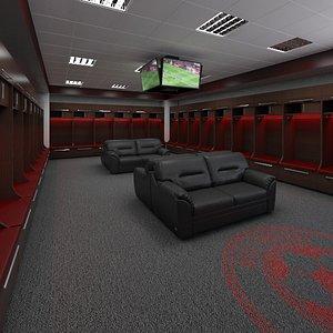 locker room lock 3D