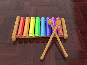 3D Toy xylophone