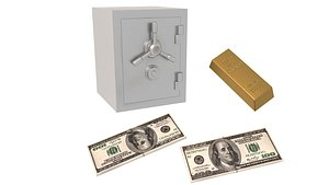 Money and Gold and Safe Collection model