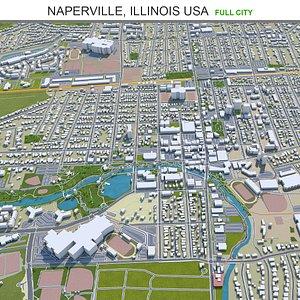 Naperville Illinois USA 3D model