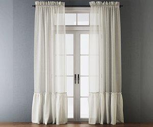 cotton curtains 3D model
