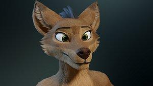 3D model Cassandra Anthro Wolf