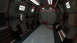3D Rust Crime Scene SciFi Backdrop - Scenery Full Perm