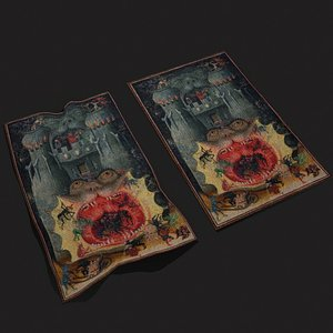 Mouth of Hell Book of Hours Tapestry 3D model