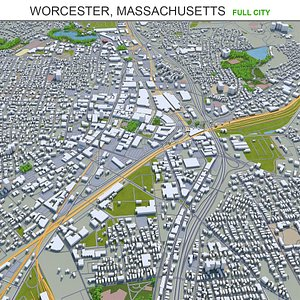3D Worcester Massachusetts USA model