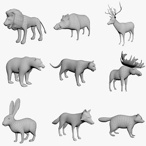 Forest Animals 3D model
