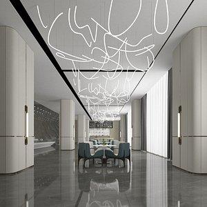 3D model lounge hall