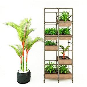 3D Planter Rack PB3 model