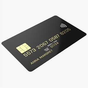 Credit debit card 02 3D model
