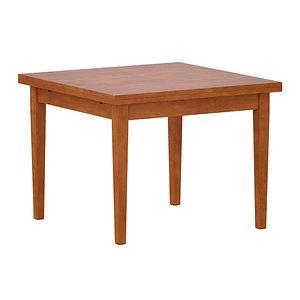 Pratico Nero Noce Extension Square Dining Table model