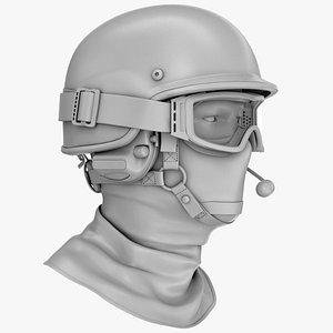 police helmet ballistic materials 3D model