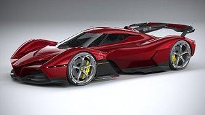 3D model Alfa Romeo 8C-R Tazio 2020 LowPoly