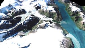 3D Mountain landscape model