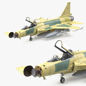 JF-17 Prototype with Armament 3D model
