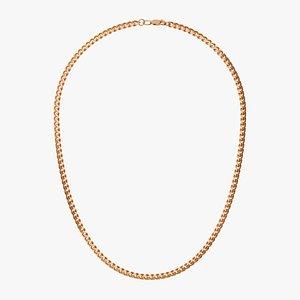 Chain Necklace BR007 1.5 3D model
