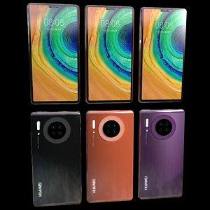 3D huawei mate30 smart phone