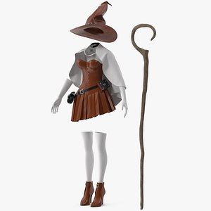 Witch Costume 3 3D model