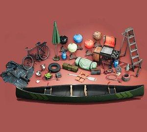 Toolshed Garage Props  - Vol 2 3D