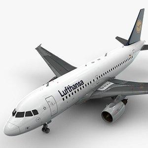 Airbus A319-100 LUFTHANSA L1381 3D model