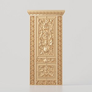 carved door cnc interior design model