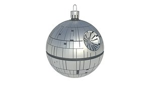 christmas tree decoration death star 3D
