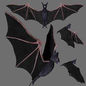 3D rigged bat