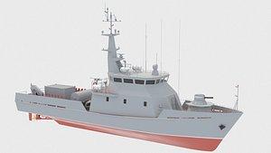 10750E Raid minesweeper 3D model