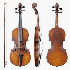 Old Maggini Violin 3D