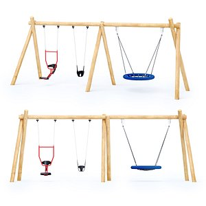 Swing Robinia Kompan and double seat You and me 3D model