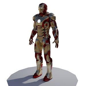 man mark armor suit 3D model