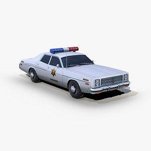 3D dodge monaco 1977 police