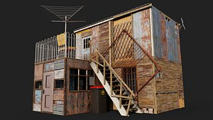 Upstairs Shack Collection 3D model