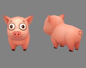 Cartoon piggy 3D model
