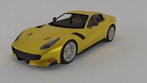 3D sportscar