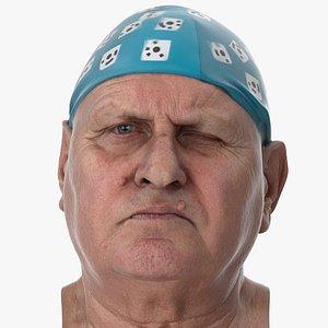 3D Homer Human Head Wink Left AU46 Clean Scan