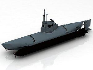 Bieber German Mini Submarine 3D model