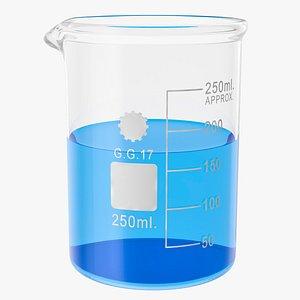 lab beaker 3D model