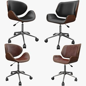 Office Chair 4 Pack 3D