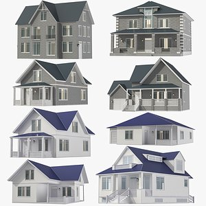 Houses Collection 02 3D model