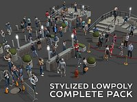 Stylized Lowpoly People Complete Pack