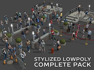 stylized people casual pack 3D