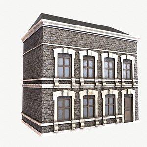 3D apartment building house model