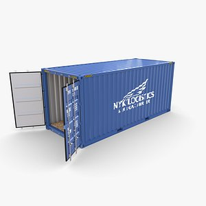 3D 20ft Shipping Container NYK Logistics v1