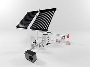 Heating system witn heat pump model