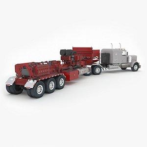 3D Fracking Pumper Unit model