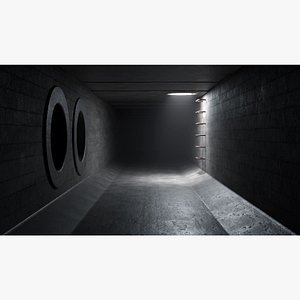 Sewer tunnel 05 3D model